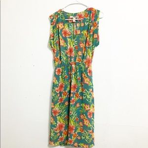 Forever 21 Tropical Sleeveless Midi Dress Size XS